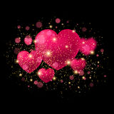 Bright Valentine`s day background. Vector Stock Images