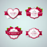 Bright Valentine`s day labels Royalty Free Stock Image