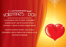 Bright Valentines Day Background with Heart Royalty Free Stock Photos