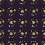 Bright Varicolored seamless pattern background. Stock Images