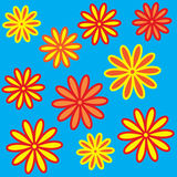 The Bright varicoloured flowerses. Stock Images