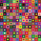 Bright vector background of circles and rounded squares. Bright vector background of colored small rounded squares and circles Stock Photos