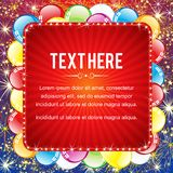 Bright Vector Big Sale Background Template Royalty Free Stock Photography