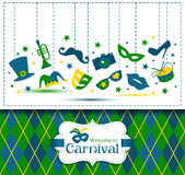Bright vector carnival illustration and  Welcome to Carnival Stock Image