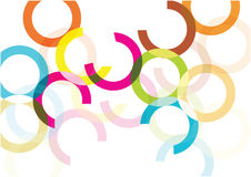 Bright vector circles background. Color bubbles isolated on white background. vector illustration