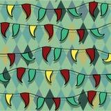 Bright vector circus seamless ornament Stock Photo