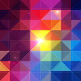 Bright vector colorful triangles background Stock Photos