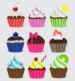 Bright Vector cupcakes stock illustration