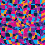 Bright vector endless pattern created with thin undulate stripes Stock Photos