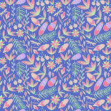 Bright vector floral pattern Stock Photography
