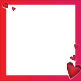 Bright vector frame with hearts Stock Photos