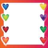 Bright vector frame with hearts Royalty Free Stock Photo