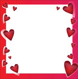 Bright vector frame with hearts Royalty Free Stock Images
