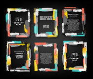 Bright vector frames for design invitations. Gift and business cards Royalty Free Stock Photography
