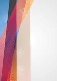 Bright vector geometry background Stock Photo