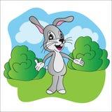 Bright vector illustration hare Stock Photos