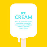 Bright vector illustration of ice cream. Illustration of a dairy product. Stock Photography