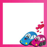 Bright vector illustration love cars Royalty Free Stock Photos