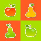 Bright vector illustration of mellow fruits Stock Image