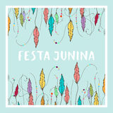 Bright vector illustrationfor the Festa Junina Brazil Festival. Folklore holiday. nFesta Junina - June party Stock Photography