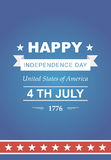 Bright vector for the Independence Day. Royalty Free Stock Photography