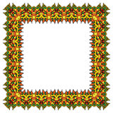 Bright vector ornamental frame. Isolated square element. Royalty Free Stock Photo