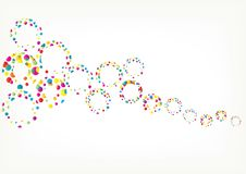 Bright vector rainbow bubbles isolated on white background. stock illustration