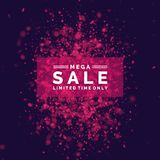 Bright vector sale poster. Vector realistic colorful reflections and lighting effects. Bright vector sale poster. Vector realistic colorful reflections and Royalty Free Stock Photography