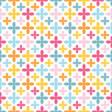 Bright vector seamless pattern. Endless texture Royalty Free Stock Photo