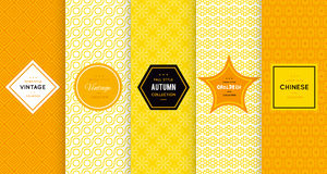 Bright vector seamless patterns Royalty Free Stock Photo