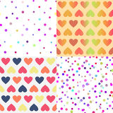 Bright vector seamless patterns set Royalty Free Stock Image