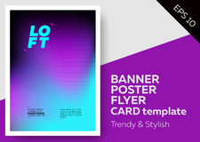 Bright Vector Template With Text Grid. Trendy Geometric Pattern, Colourful Background. Applicable For Banner, Poster, Flyer, Card. Stock Photography