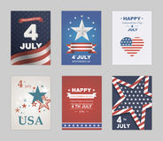 Bright vector to the Independence Day. Stock Images