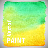 Bright vector watercolor paint gradient. Paint stain. Element for your design royalty free illustration
