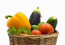 Bright vegetables Stock Images