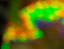 Bright vibrant abstract bokeh pattern Stock Images