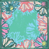 Bright vintage and vivid floral frame Royalty Free Stock Images