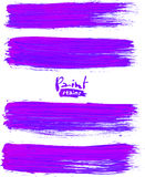 Bright violet acrylic brush strokes Royalty Free Stock Photography