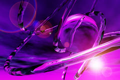 Bright violet 3d abstract illustration Stock Images