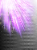 Bright violet light. EPS 10. Bright violet light on transparent background. EPS 10 vector file included Royalty Free Stock Photo