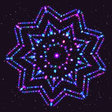 Bright Violet Shimmering Star of the Particles Stock Photo