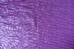 Bright violet shiny viscose fabric from above Royalty Free Stock Images