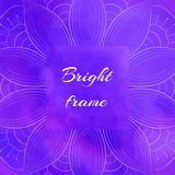 Bright Violet Square Frame Royalty Free Stock Photography
