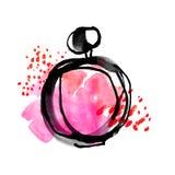 Bright vivvid color perfume bottle sketch. Stock Images