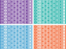 Bright wall-paper from geometrical figures Stock Image