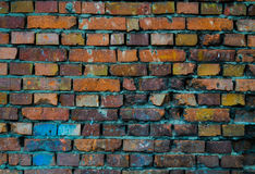 Bright Wall. On the side of the street Stock Photos