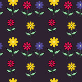 Bright Wallpaper with Flowers. Bright wallpaper with color flowers Royalty Free Stock Images