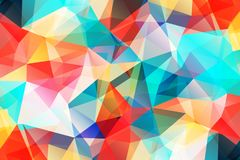 Bright wallpaper. geometric texture. colorful pattern. creative concept. Vivid modern geometrical abstract background. Triangular backdrop. Bright wallpaper stock illustration