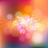 Bright warm bokeh background Stock Photos