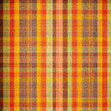 Bright Warm Plaid. In orange and brown royalty free illustration